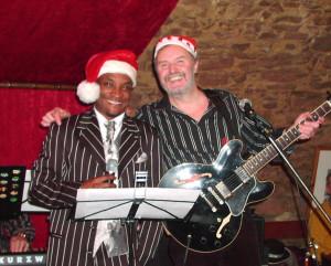 Mit Keith Sanders (Soulsänger) beim Nikolaus-Jazz, Schlosskeller Windecken