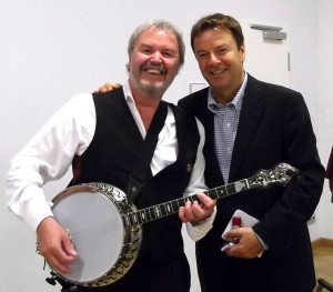 "Mit Jörg Bombach (HR-Moderator) bei ""Jazz meets Classic"", Frankfurt (Bergen-Enkheim)"