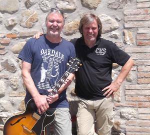 Mit Michael Sagmeister (Jazzgitarre) in der Toskana